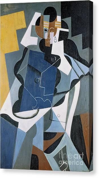 Futurism Canvas Print - Figure Of A Woman by Juan Gris