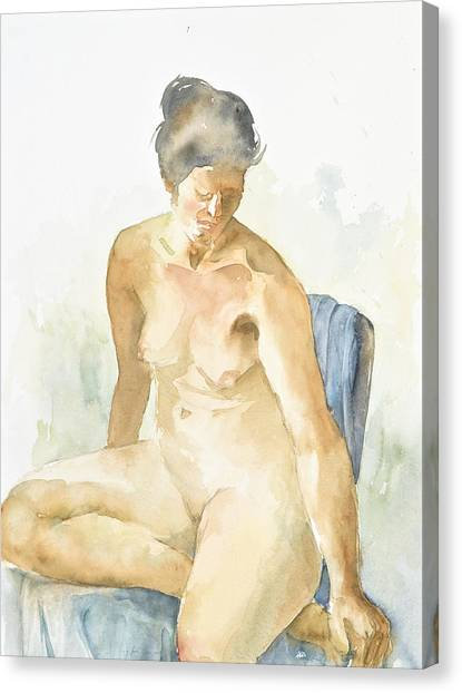 Figure Sitting Canvas Print by Eugenia Picado