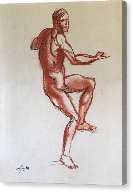 Figure Sketch Canvas Print by Alejandro Lopez-Tasso