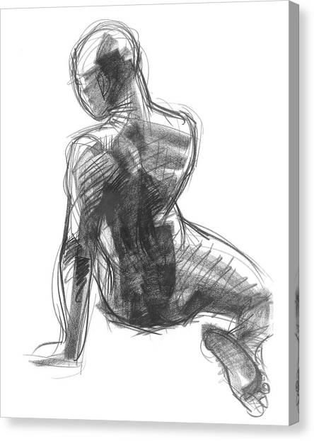 Figure Study Of The Back Canvas Print