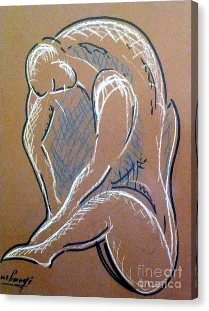 Figure Canvas Print by Ushangi Kumelashvili