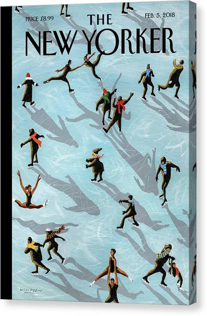 Figured Skaters Canvas Print