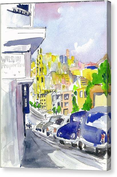 Filbert Street Canvas Print