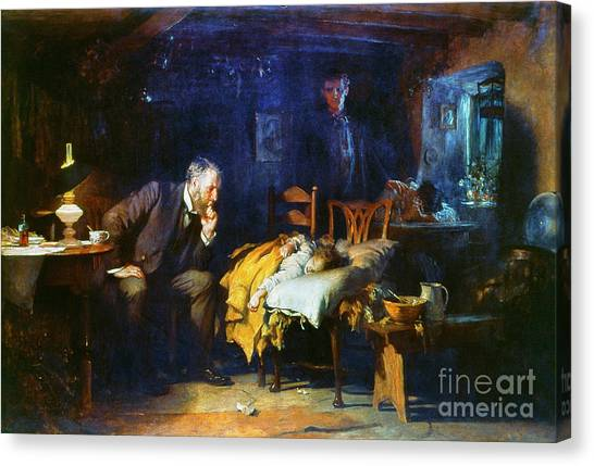 Canvas Print - Fildes The Doctor 1891 by Granger