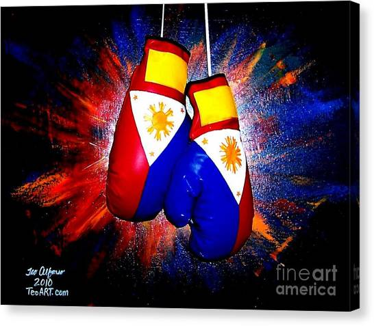 Manny Pacquiao Canvas Print - Filipino Boxer - Boxing From The Philippines by Teo Alfonso