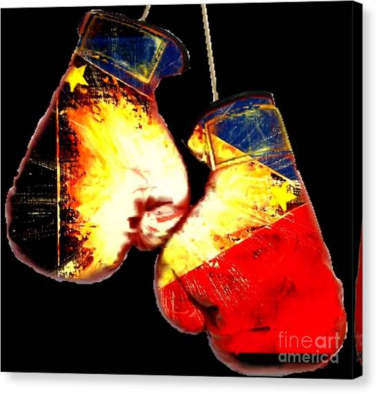 Manny Pacquiao Canvas Print - Filipino Boxer by Teo Alfonso