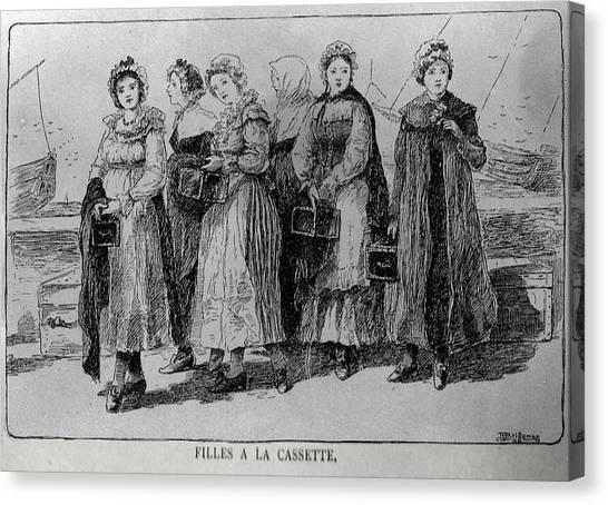 Filles A La Cassette Canvas Print