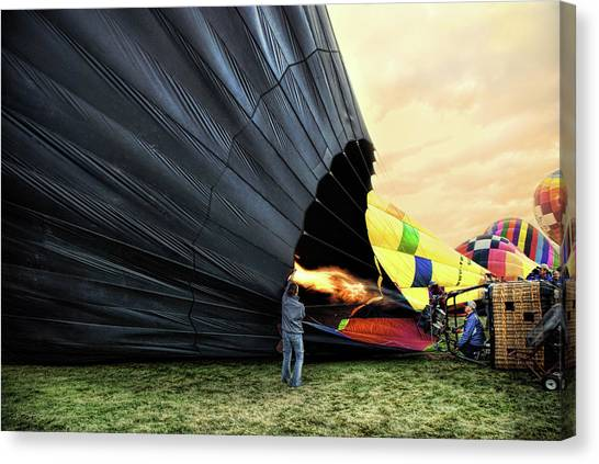 Filling The Balloon Canvas Print