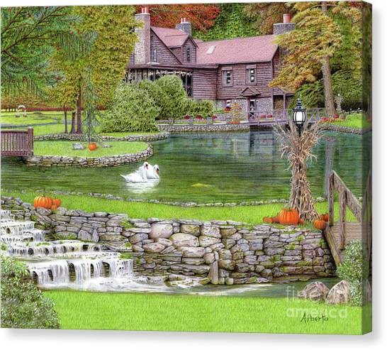 Fin N Feather At Seven Springs Canvas Print