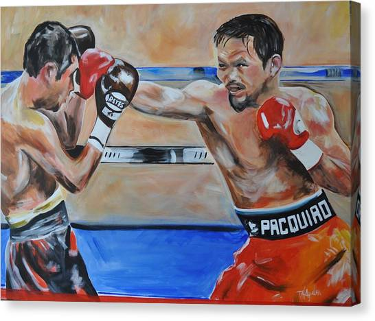 Manny Pacquiao Canvas Print - Final Blow by Tammy Aguillon Wooten