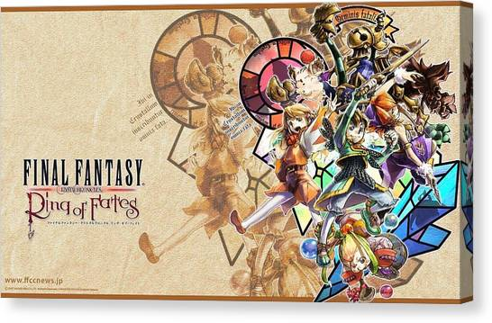 Final Fantasy Canvas Print - Final Fantasy Crystal Chronicles by Maye Loeser