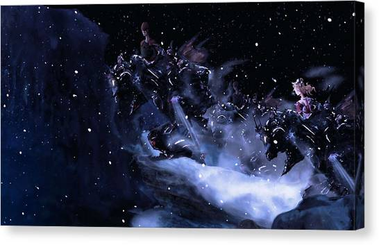 Final Fantasy Canvas Print - Final Fantasy IIi by Maye Loeser