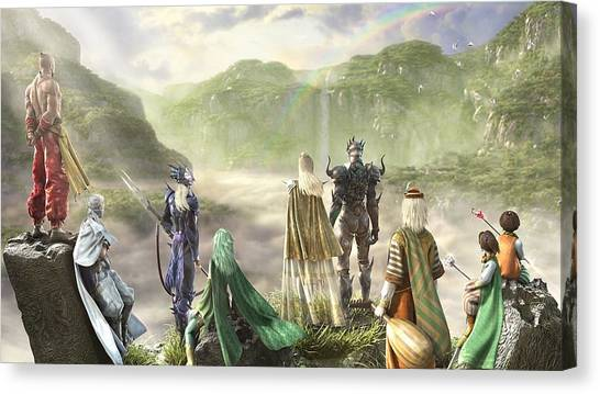 Final Fantasy Canvas Print - Final Fantasy Iv by Super Lovely