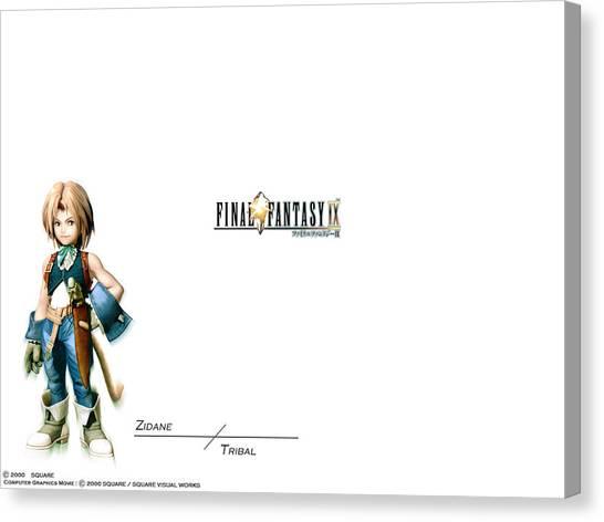 Final Fantasy Canvas Print - final fantasy IX by Mery Moon