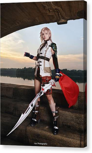Final Fantasy Canvas Print - Final Fantasy by Mariel Mcmeeking