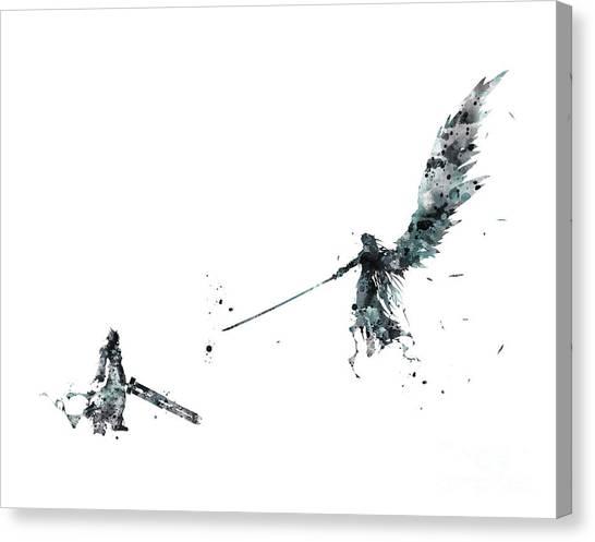 Final Fantasy Canvas Print - Final Fantasy by Monn Print