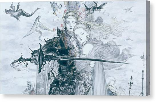 Final Fantasy Canvas Print - Final Fantasy V by Maye Loeser