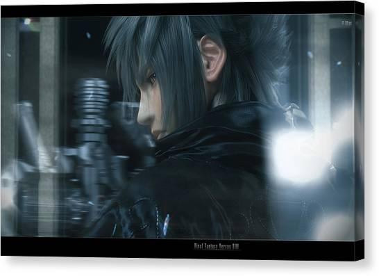 Final Fantasy Canvas Print - Final Fantasy Versus Xiii by Mery Moon