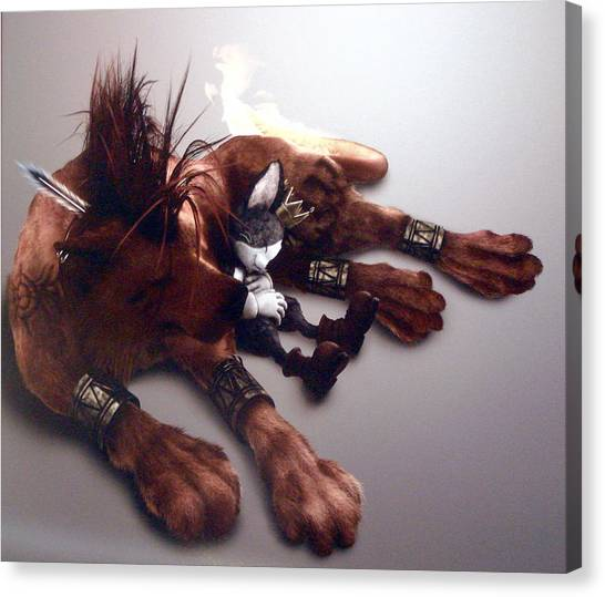 Triceratops Canvas Print - Final Fantasy Vii Advent Children by Super Lovely