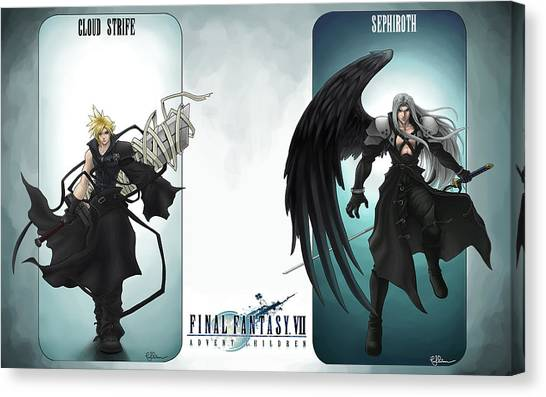 Final Fantasy Canvas Print - Final Fantasy Vii by Maye Loeser