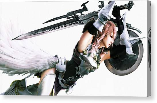 Final Fantasy Canvas Print - Final Fantasy Xiii-2 by Maye Loeser