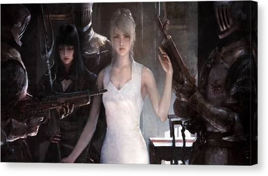 Final Fantasy Canvas Print - Final Fantasy Xv by Maye Loeser