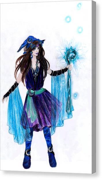 Final Fantasy Canvas Print - Final Fantay Black Mage by Rebecca Tripp