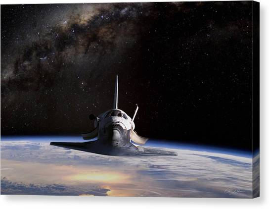Space Shuttle Canvas Print - Final Frontier by Peter Chilelli