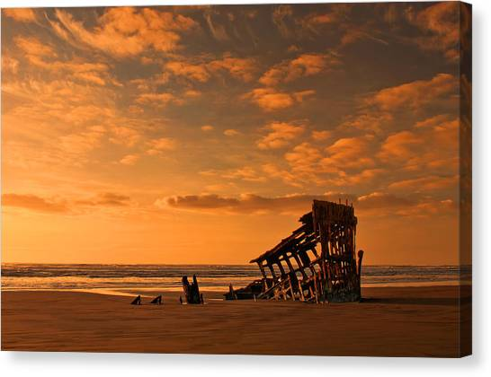 Sundown Canvas Print - Final Resting Place by Dan Mihai