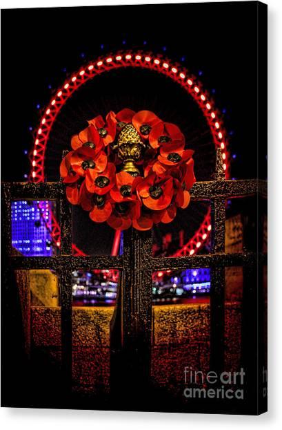 London Eye Canvas Print - Final Salute by Jasna Buncic