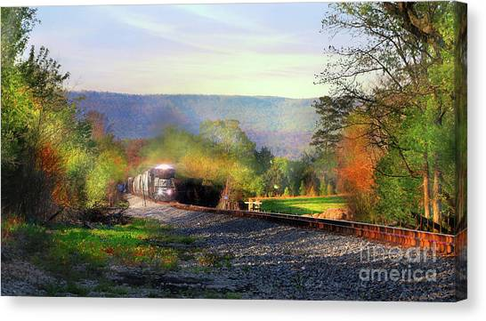 Final Stretch Canvas Print