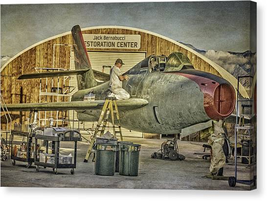 F-84f Thunderstreak Final Touches  Canvas Print