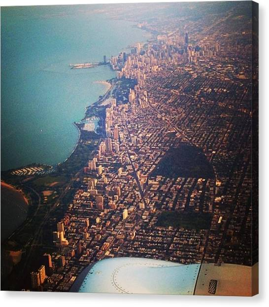 Toronto Skyline Canvas Print - #finaltrip Day#32 #goodbye #chicago by Giada Capotondi