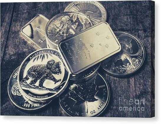Coins Canvas Print - Finance And Commodities by Jorgo Photography - Wall Art Gallery