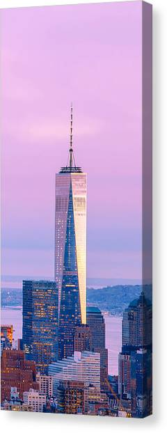 New York Skyline Canvas Print - Finance Romance by Az Jackson