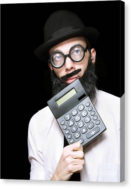 Keypad Canvas Print - Financial And Accounting Genius With Calculator by Jorgo Photography - Wall Art Gallery