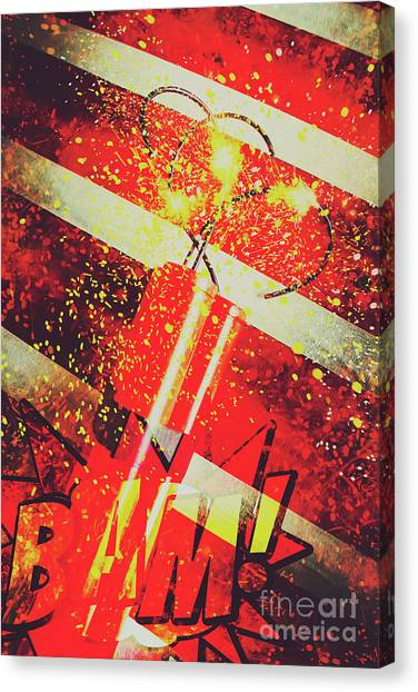 Caution Canvas Print - Financial Meltdown Coming Soon by Jorgo Photography - Wall Art Gallery