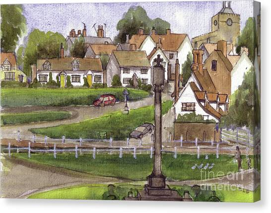 Finchingfield Essex Uk Canvas Print by Dianne Green