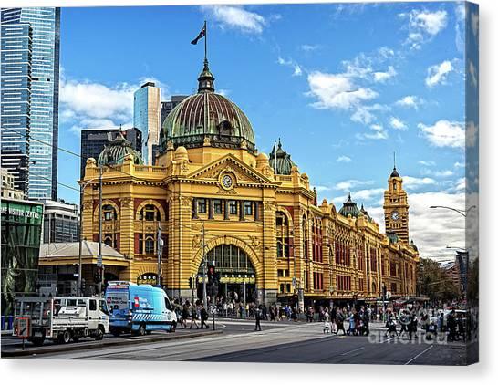 Flinders Station Canvas Print