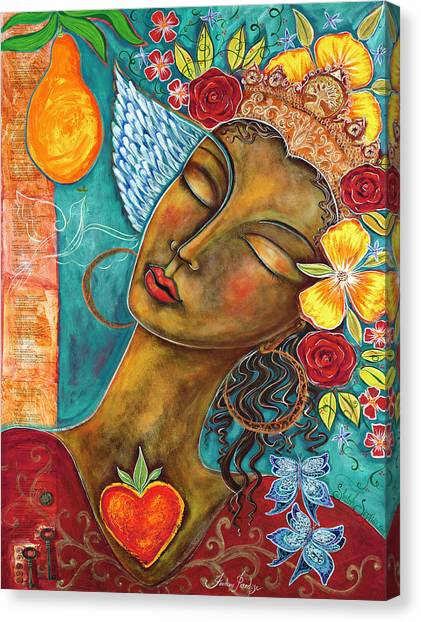 Heart Canvas Print - Finding Paradise by Shiloh Sophia McCloud