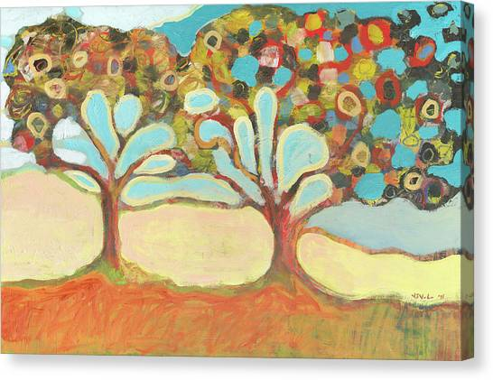 Orange Tree Canvas Print - Finding Strength Together by Jennifer Lommers