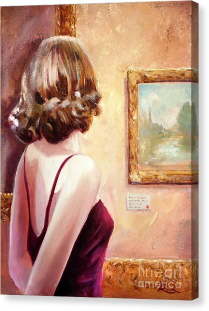 Fine Art Gallery Opening Night Canvas Print