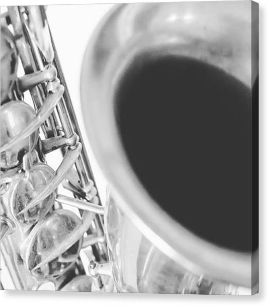 Saxophones Canvas Print - Fine Art Photograph By Pamela Williams by Pamela Williams