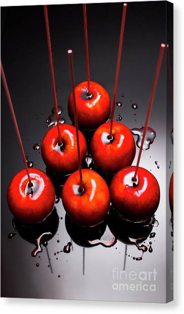 Bowling Canvas Print - Fine Art Toffee Apple Dessert by Jorgo Photography - Wall Art Gallery