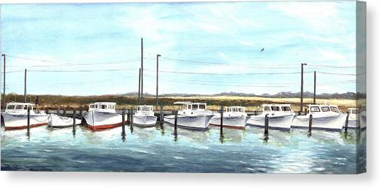 Fine Art Workboats Kent Island Chesapeak Maryland Original Oil Painting Canvas Print
