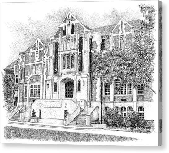 Ball State University Canvas Print - Fine Arts Building, Ball State University, Muncie Indiana by Stephanie Huber