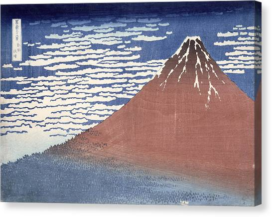 Mount Fuji Canvas Print - Fine Weather With South Wind by Hokusai
