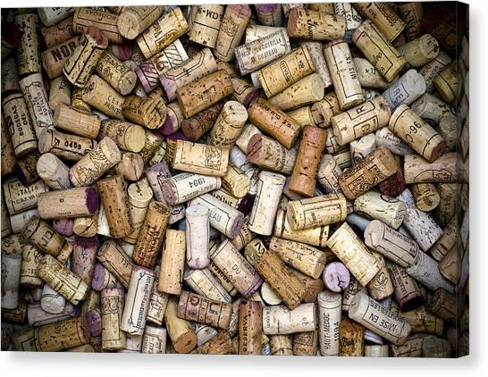Cork Canvas Print - Fine Wine Corks by Frank Tschakert