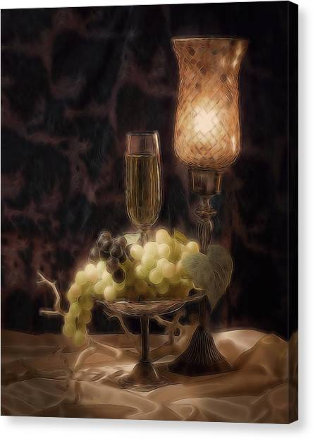 Candle Stand Canvas Print - Fine Wine Still Life by Tom Mc Nemar