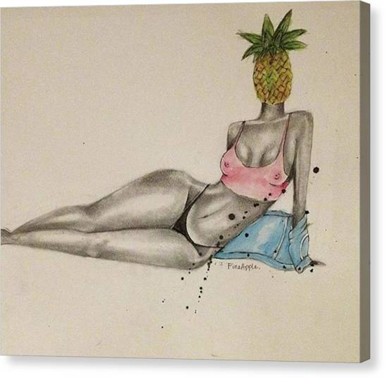 Apples Canvas Print - Fineapple #2 Watercolor + Graphite + by Fineapple Apple